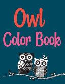 Owl Color Book Book