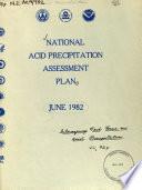 National Acid Precipitation Assessment Plan