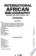 International African Bibliography