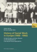 History of Social Work in Europe  1900   1960