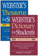 Webster's for Students Dictionary/Thesaurus Shrink-Wrapped Set