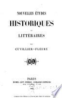 Nouvelles etudes historiques et littéraires
