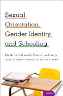Sexual Orientation  Gender Identity  and Schooling Book