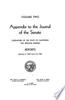 Journal of the Senate  Legislature of the State of California Book PDF
