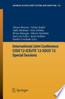 International Joint Conference CISIS'12-ICEUTE ́12-SOCO ́12 Special Sessions