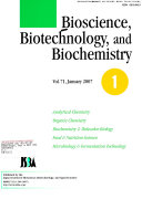 Bioscience  Biotechnology  and Biochemistry