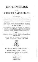 Dictionnaire des sciences naturelles, dans lequel on traite méthodiquement des différens êtres de la nature ...