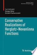 Conservative Realizations of Herglotz-Nevanlinna Functions