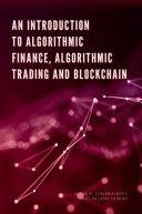 An Introduction to Algorithmic Finance, Algorithmic Trading and Blockchain Pdf/ePub eBook