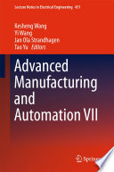 Advanced Manufacturing and Automation VII Book