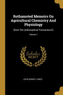 Rothamsted Memoirs On Agricultural Chemistry And Physiology