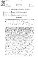 Mr  Walker made the following Report in senate of the united senate