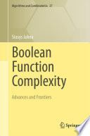 Boolean Function Complexity