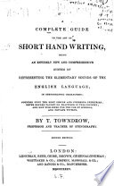 A Complete Guide To The Art Of Shorthand Writing Book PDF