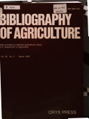 Bibliography of Agriculture with Subject Index