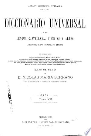 Download Diccionario universal de la lengua castellana Free Books - Dlebooks.net