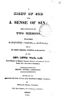 A sight of God and a sense of sin: the substance of 2 sermons