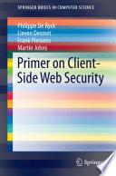 Primer on Client Side Web Security