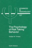 The Psychology of Risk Taking Behavior Pdf/ePub eBook