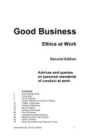Good Business Ethics at Work