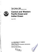 Tide Tables  High and Low Water Predictions     Central and Western Pacific Ocean and Indian Ocean