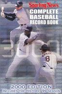 Complete Baseball Record Book Book