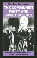 The Communist Party and Soviet Science