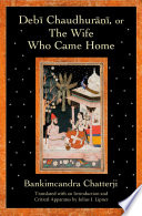 Debi Chaudhurani  Or The Wife Who Came Home Book
