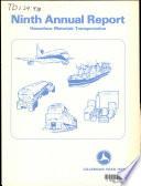 Annual Report On Hazardous Materials Transportation