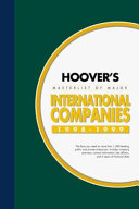 Hoover's Masterlist of Major International Companies, 1998-1999