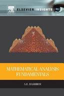 Mathematical Analysis Fundamentals Book