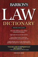Law Dictionary: Sixth Edition