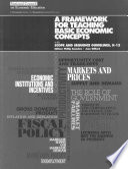 A Framework For Teaching Basic Economic Concepts
