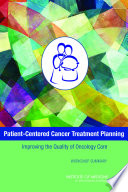 Patient-Centered Cancer Treatment Planning