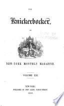 The Knickerbocker  Or  New York Monthly Magazine Book PDF