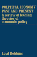 Political Economy  Past and Present