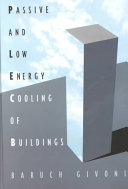 Passive Low Energy Cooling of Buildings