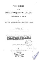 The History Of The Norman Conquest Of England The Reign Of Harold And The Interregnum