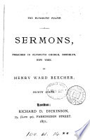 The Plymouth pulpit  Sermons preached in Plymouth church  Brooklyn Book PDF