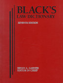 Black's Law Dictionary, 7th Ed