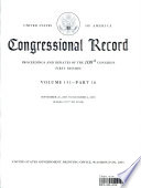 Congressional Record, V. 151, Pt. 16, September 26 to October 6 2005
