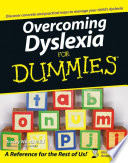 Overcoming Dyslexia For Dummies Book