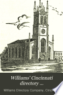 Williams  Cincinnati Directory     Book