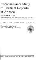 Pdf Reconnaissance Study of Uranium Deposits in Arizona