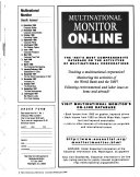 Multinational Monitor Book