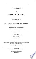 Abstracts Of The Papers Communicated To The Royal Society Of London Book PDF