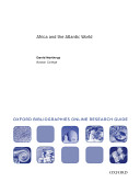 Africa and the Atlantic World  Oxford Bibliographies Online Research Guide