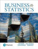 Business Statistics, Third Canadian Edition