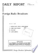 Daily Report  Foreign Radio Broadcasts Book