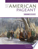 The American Pageant  Volume I Book